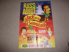 Russ Abbot pantomime theatre poster (Manchester, Bella Emberg, Windsor Davies)