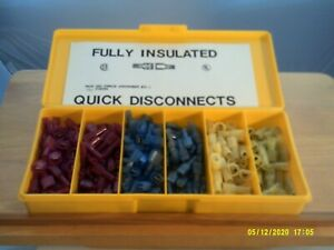 C.S.I. 280 Piece Fully Insulated Male/Female Quick Disconnect Terminals Mixture