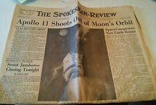 024 Apollo 11 Newspaper July 22 1969 Spokesman Review Washington Boy Scouts BSA