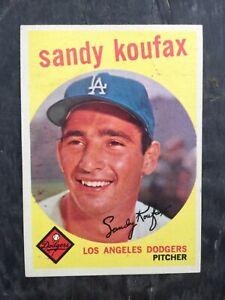 RARE ORIGINAL 1959 TOPPS SET BREAK SANDY KOUFAX #163 HOF HIGH GRADE EXMT/NM WOW
