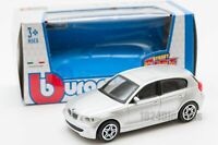 BMW 1 SERIES 1:43 Model Diecast Toy Car Miniature Cars Die Cast Silver Serie 1
