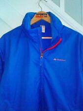 Mens Unisex Quechua Waterproof Windbreaker Raincoat Jacket large Blue Novadry