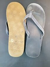 UGG Kayla Womens Sz 10 Leather Flip Flops Sandals Shoes 1000137 worn condition