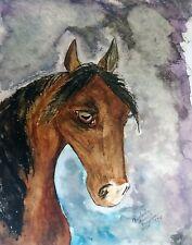 ARABIAN MARE Head Study Arab Horse Art Print 8 x 10 KSAMS Signed Limited Edition