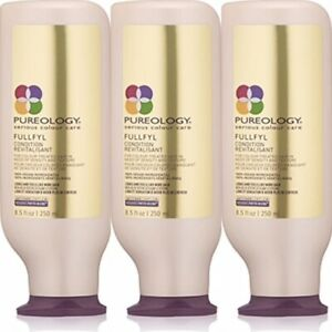 3 PK! PUREOLOGY FULLFYL CONDITIONER 8.5 OZ SERIOUS COLOUR CARE DENSITY THICKNESS