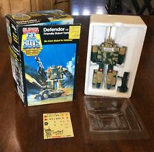 Tonka 7251 80's Super GoBots 031 Defendor Friendly Robot Tank Excellent