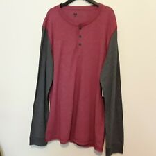 Mens shirt long sleeves brand Route 66 new with tags color red-gray