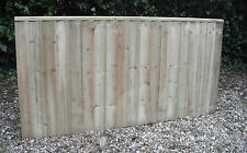 Heavy Duty Wooden Fence Panels 6 x 3 Tantalised Pressure Treated Feather Edge
