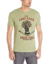 Lucky Brand - Hombre S - Verde Lone Mano Póker Room Algodón Camiseta Gráfica
