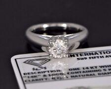 $6,200 ISP 14k White Gold IGI Round 1.04ct Diamond Engagement Ring Band Sz 5.5