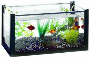 6 Gallon Aquarium, Glass Tank, 18 x 10 x 10 inches