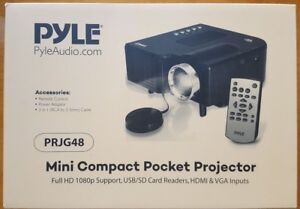 PYLE MINI COMPACT POCKET PROJECTOR PRJG48 BRAND NEW NEVER OPENED BOX