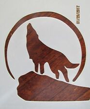Howling Wolf Stencil Reusable 10 mil Mylar Stencil