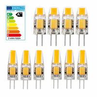 10x G4 5W 6W AC DC 12V LED COB Mini Bulb Light Replace Halogen Lamp Dimmable 8/4