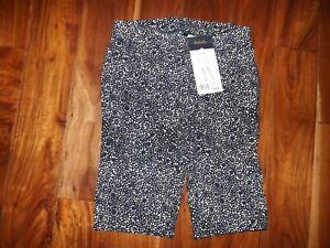 RAFAELLA Dark Lapiz Blue Dressy Bermuda Shorts Size 6 $43 NWT Comfort Stretch