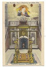Franciscan Monastery Holy Sepulchre Thabor Altar Washington DC Postcard Linen