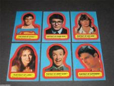 Superman - The Movie Series 1 - Complete 6 Card Sticker Set - 1978 Topps - NM