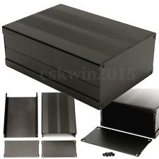 Black Aluminum Box Circuit Board Enclosure Case Project Electronic 150*105*55MM