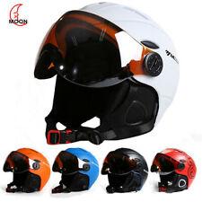 MOON Ski Helmet Integrated Full Coverage Protector 2-in-1Visor Snowboard Helmets