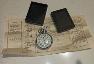 """Soviet Russian USSR Stopwatch """"Agat"""" mechanical TWO-Button Working, Vintage NEW"""