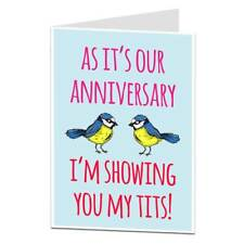 Funny Rude Alternative Anniversary Card For Husband Or Boyfriend