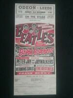 OLD BEATLES CONCERT POSTER 2 SIDED ,ODEON LEEDS & ODEON SOUTHPORT , LIVERPOOL