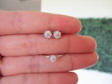 .26 CTW Diamond Earrings&Ring Set 18k White Gold JS53 sep