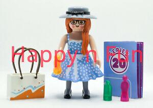 Playmobil ® Lady Shopping / Série 20 / Fille- Girl / Neuf - New - nuevo - Neu