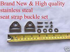 Honda cb cl sl xl Kawasaki Suzuki Yamaha *new stainless steel seat strap buckle
