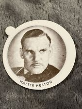 Vintage Dixie Cup Ice Cream Lid With Movie Stars ~ Walter Huston