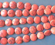 Calsilica Rainbow Semi Precious Stone Man-made Dyed 14mm Coin Bead Q1 Strand