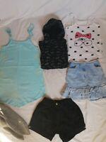 Lot de 6 vêtements 10 ans fille short jean noir Orchestra