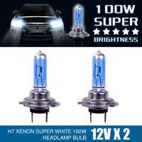 2pcs H7 100W 6000K 12V Ampoule Lampe Feu Phare XENON GAZ SUPER BLANC