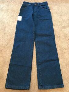 Wrangler Cowboy Youth Boys Blue Straight Denim Jeans Size 14 Slim (26x30) - NWT
