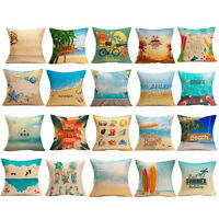 Summer Beach Print Car Sofa Bed Home Decoration Throw Pillow Case Cushion Cover