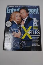 Duchovny Anderson Signed Autographed Entertainment Weekly X-Files Beckett BAS