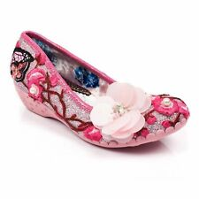Irregular Choice Do The Twist (C) Pink Slip On Flat / Low Heel Shoes