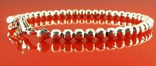 Silver Plated Polished 4mm Ball Bead Bracelet