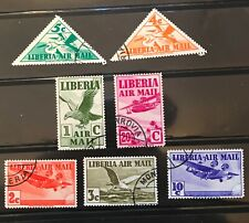 Liberia Air Mail postage stamps  lot of 7 1938 Old               Mr