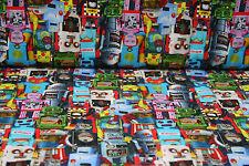 NEU Kinder Jersey Stoff Stoffe Meterware Roboter 25 cm Markenstoffe