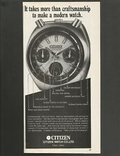 CITIZEN Chronograph Automatic  - 1973 Vintage Watch Print Ad