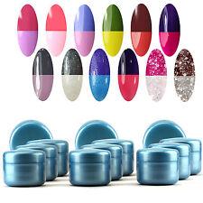 12Pcs Manicure Art Color Temperature Change Solid Extention Nail UV Gel Kits Set