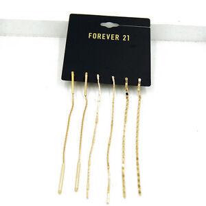 3 pair set FOREVER 21 Gold/Silver-Tone Earrings Ear Thread/Drop/Tassels BNWT