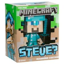 "Minecraft Steve Diamond Vinyl Toy Official Licensed Authentic 6"" Sword"