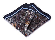 HN39Z Handkerchief 100% Natural Silk Satin Mens Hanky Wedding Pocket Square