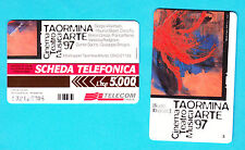 SCHEDA TELECOM GOLDEN 640 TAORMINA ARTE 97 SCHEDA TELEFONICA SC. 31.12.99