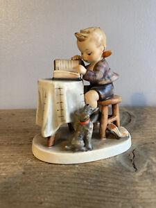 """1955 Goebel Hummel """"Little Bookkeeper"""" Figurine Ornament 306 - Marked W German"""