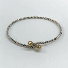 Tiffany & Co. 925 18k 750 Twisted Rope Love Hook Knot Bracelet