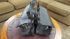 VINTAGE MOTORCYCLE LEATHER SADDLE BAGS HARLEY DAVIDSON-NORTON-BSA-BMW-TRIUMPH
