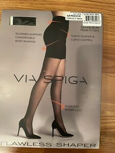 Via Spiga Flawless Shaper Slimming Support Pantyhose Black Size B Made in Italy